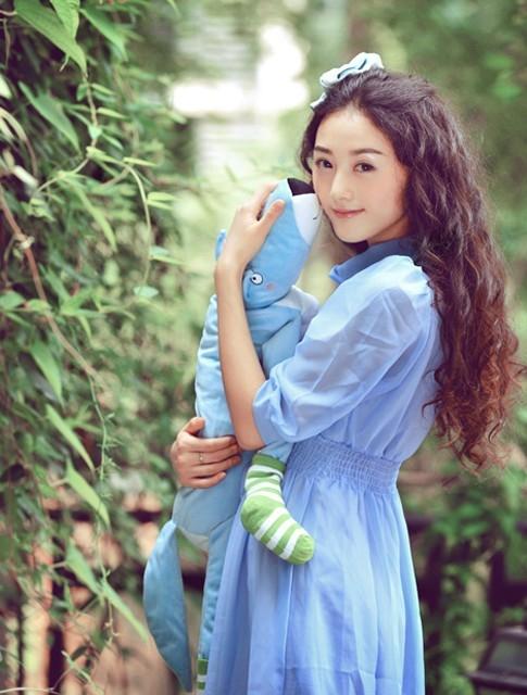 蓝色古风背影图片唯美-女生唯美双辫背影动漫,古风情
