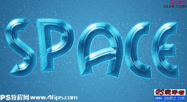 ps文字特效:设计漂亮的蓝色浮雕字效果