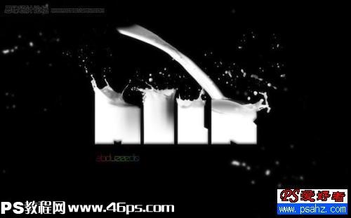 Photoshop牛奶文字视频喷溅效果_字体字体_ui设计理念牛奶图片