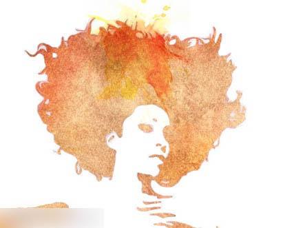 photoshop用滤镜及素材把人物照片转为水彩画