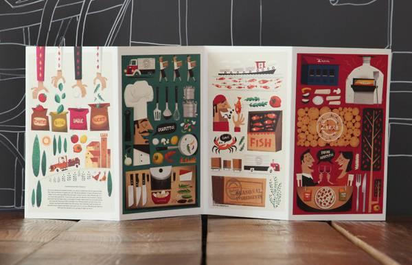 菜单设计 艺术 舌尖上的美食 美食 旅行日记 排版设计 报纸设计 平面