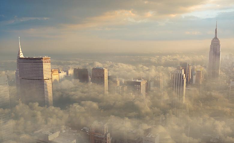 丙烯画天空教程步骤图片