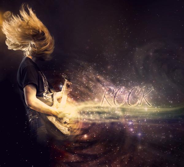 photoshop制作动感的摇滚音乐海报教程