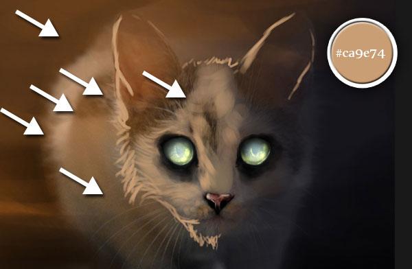貓咪耳朵 卡通 黑白