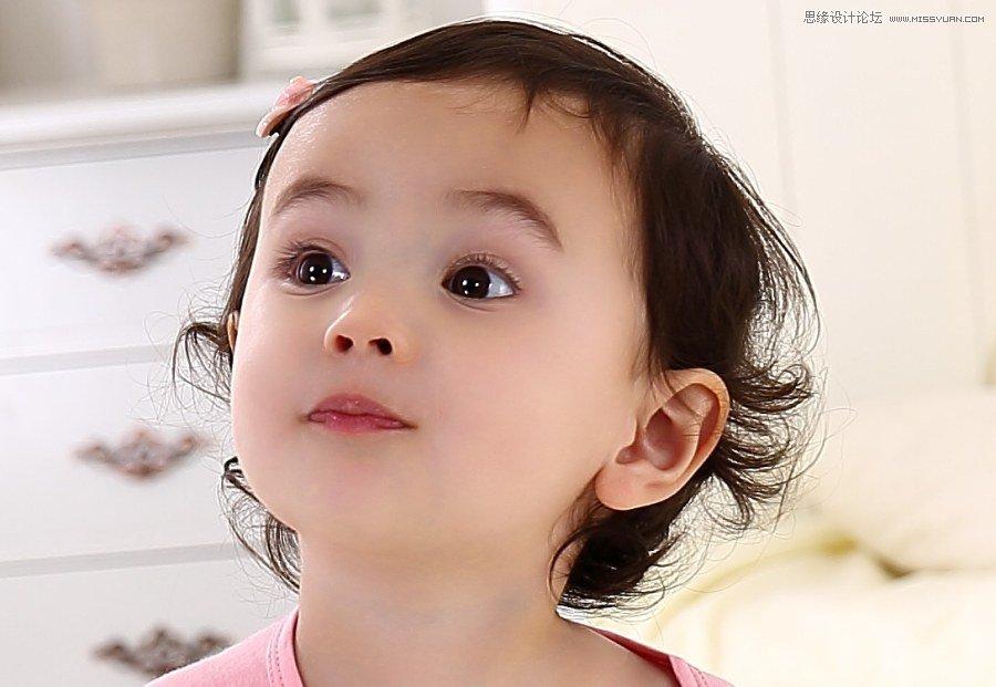 photoshop使用调整边缘给儿童人像抠头发