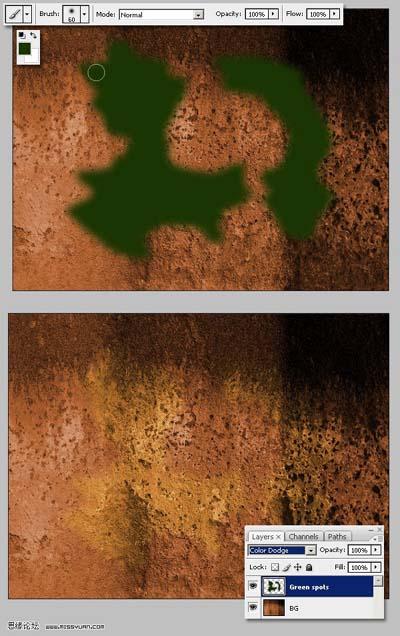 根据不同的素材图片大小做适当调整).-Photoshop制作铜板纹理字