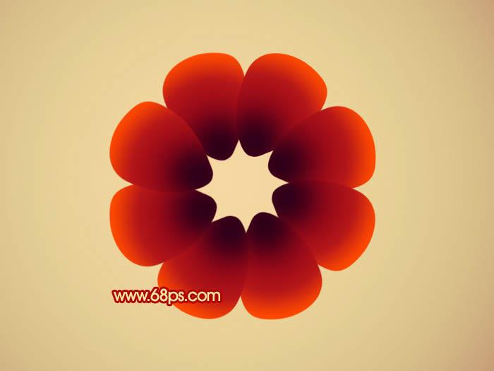 Photoshop制作非常可爱的卡通藤蔓花朵