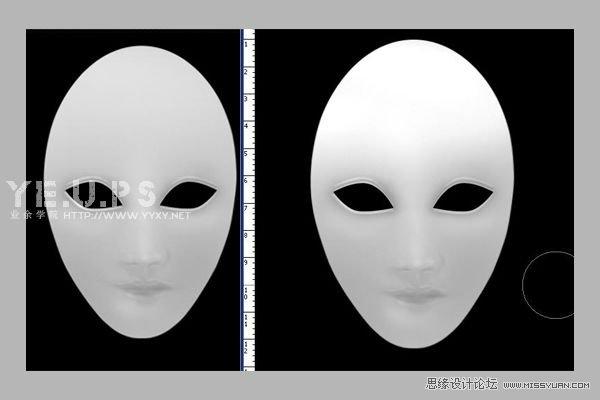 PS鼠绘逼真黑白的橡皮面具