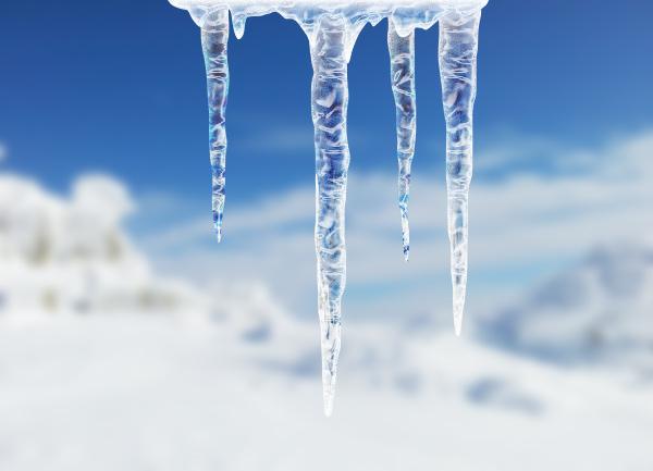 Photoshop制作剔透的悬挂冰锥