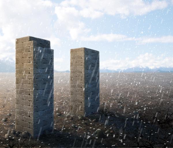利用画笔及滤镜给图片增加冰雹效果