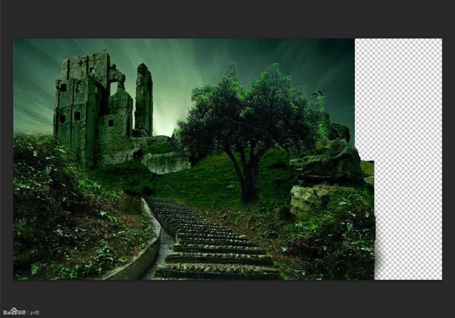 S合成森林中的阴森古堡