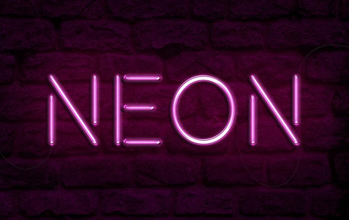 利用图层样式制作漂亮的紫色霓虹字