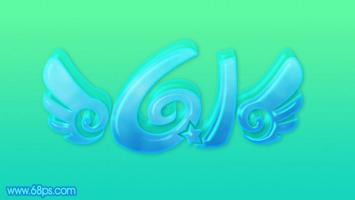 Photoshop制作清爽的儿童节泡泡立体字