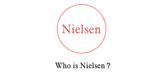 nielsen,马上会出来尼尔森(全球著名的市场调研公司)好的,我承认他们