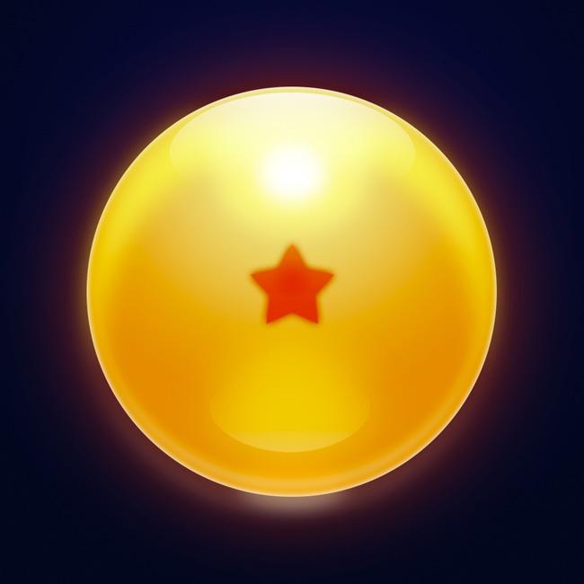 Photoshop制作一颗漂亮的橙色龙珠