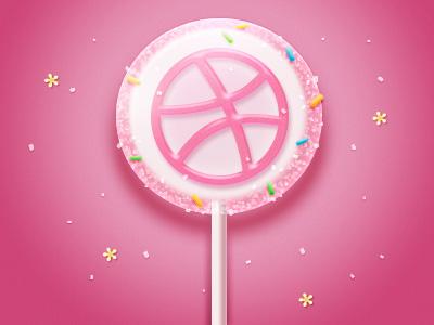 Photoshop制作可爱的粉色棒棒糖