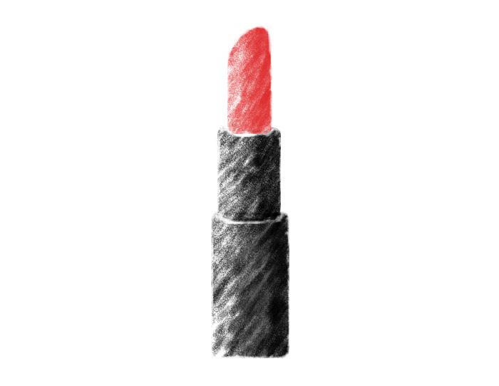 利用画笔绘制简洁的唇膏
