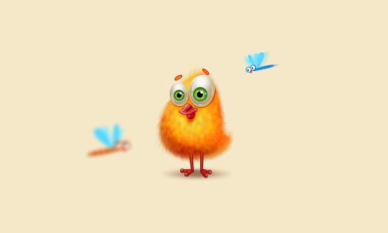 PS绘制可爱的小黄鸡