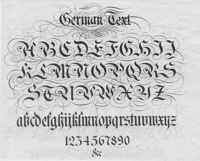 penbeat有何不可谱子-简单来说哥特的写法还是很固定的,基本上都是要先画栅栏.笔尖斜成