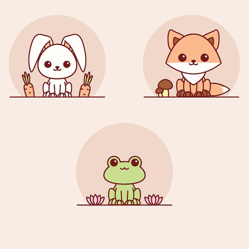 画出可爱的动物