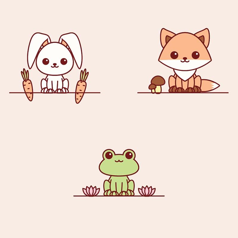 动物故事蘑菇背景图片