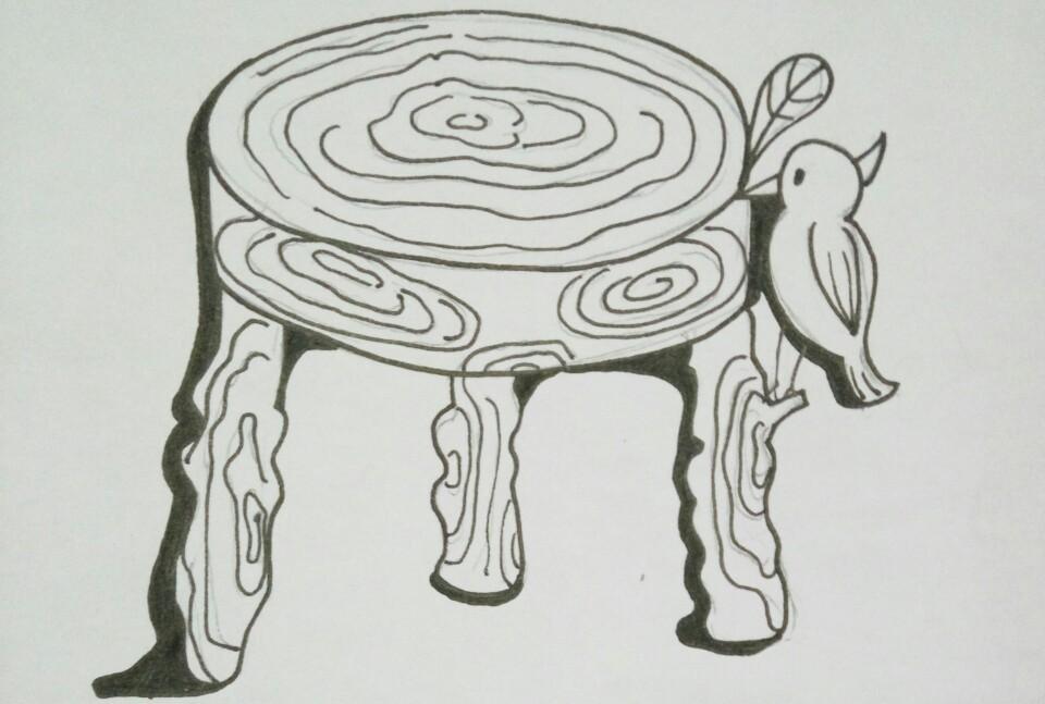 椅子平面ps手绘图片