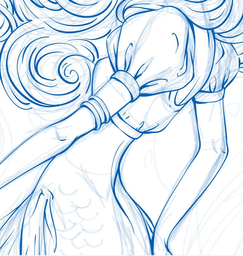 美人魚簡筆畫圖片步驟-公主怎么畫最美又簡單/超簡單
