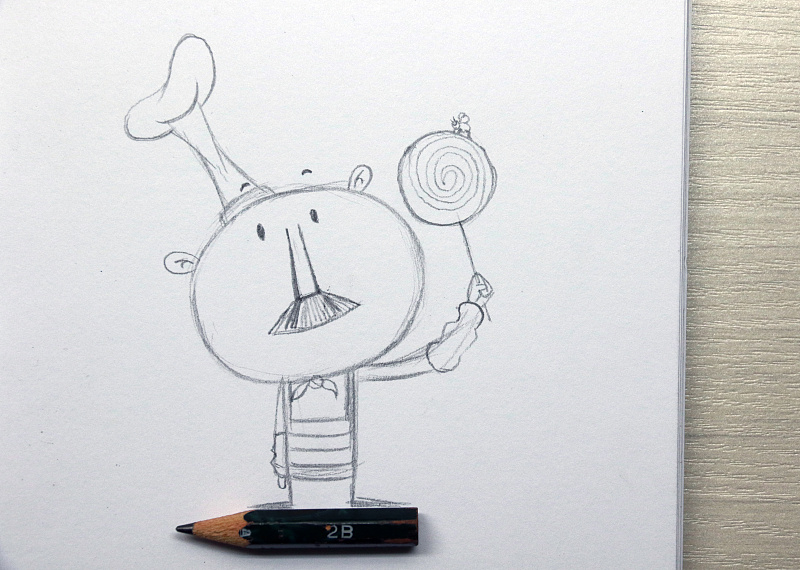 铅笔简笔画蘑菇大全